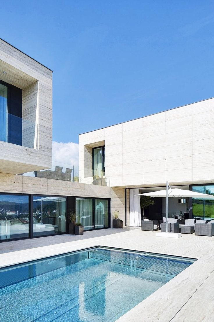 Best Villa Houses Images On Pinterest Modern Homes - Contemporary purity and simplicity pool villa by jm architecture italy