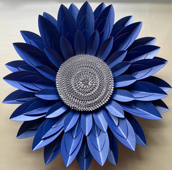 42 best paper flowers and 3d art by paper flower company images on 40cm royal blue and silver 3d paper flower wall dcor mightylinksfo