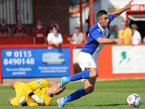 Lee Novak in action during pre-season. July 2013. #BCFC