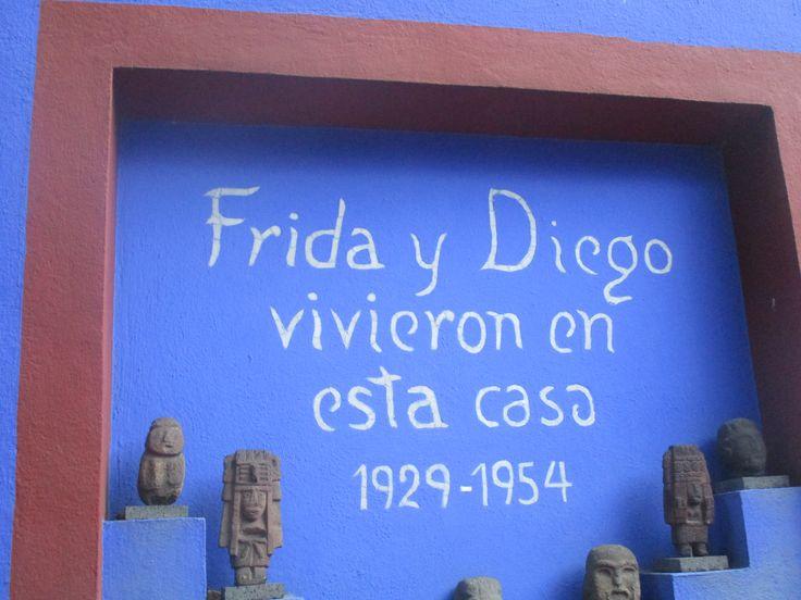 Casa Azul - Museo Frida Kahlo en Coyoacán, Distrito Federal, México.