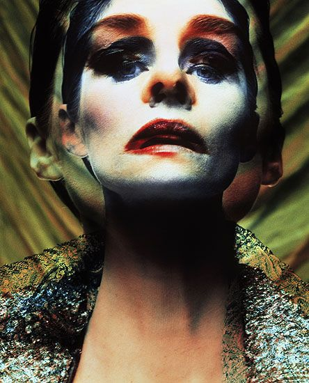 Double vision/Charlotte Rampling/Vogue Italia 1992/Michel Comte