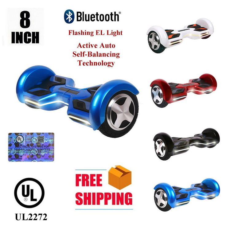 Electric Scooters 47349: Ul2272 Bluetooth 8 Led Flash Auto Self-Balancing Two Wheel Scooter -> BUY IT NOW ONLY: $279 on eBay!
