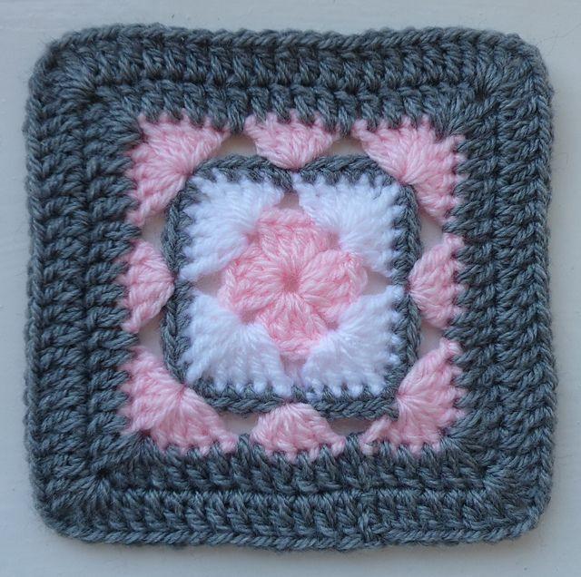 Ravelry: LD-0103 Afghan block pattern by Crochet- atelier.