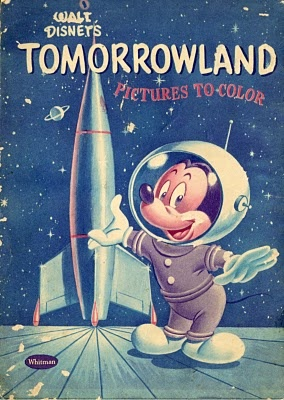 Tomorrowland : Pictures to Color (1955) Disney colouring book.