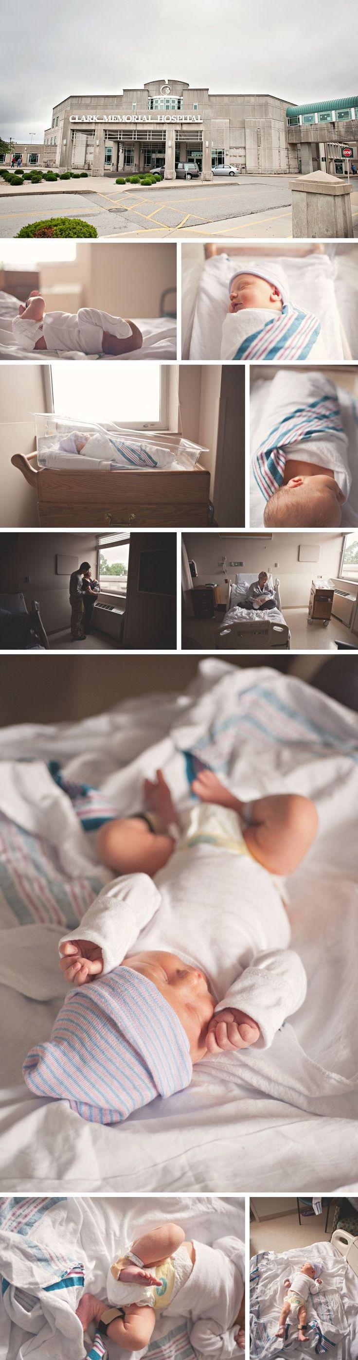 Newborn, hospital photos