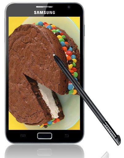Surfplattan Samsung Galaxy Note får uppdatering till Android 4.0 Ice cream sandwich i delar av Europa.