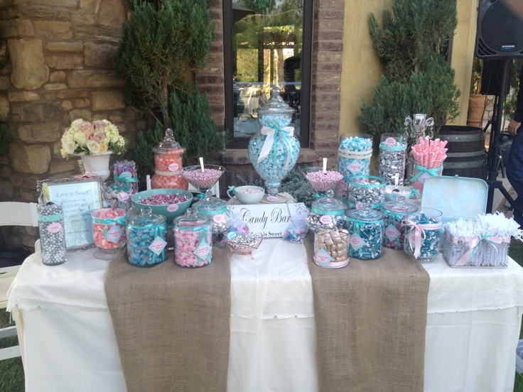 Shabby Chic Candy Buffet At Lake Oak Meadows. Candy Buffet By Sweet  Creations By Judy