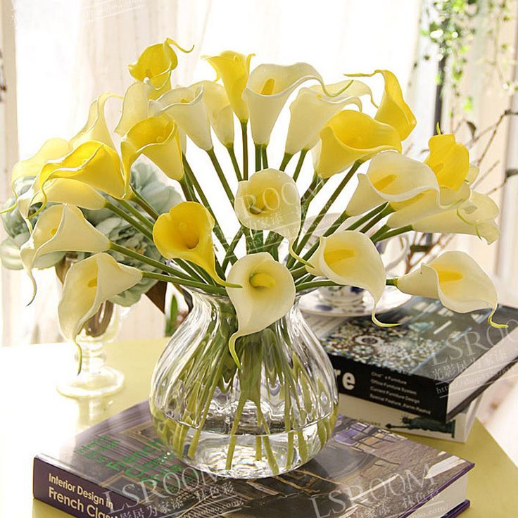 10pcs/lot Artificial Calla lily PVC Real Touch bride Bouquet flower Home Wedding Decor Flowers