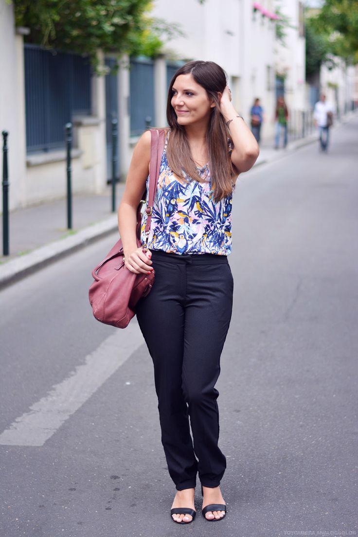 Le Paris St Barth bordeaux pour un look Working girl #working girl #maxi sac