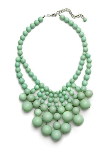 Beaded jade necklace.