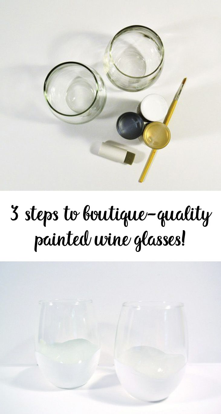 Hometalk diy christmas window decoration - Painted Wine Glasses How To Paint Glasses Gift Idea