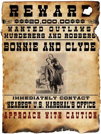 141 best Wanted POSTERS images on Pinterest Mobsters, American - printable wanted posters