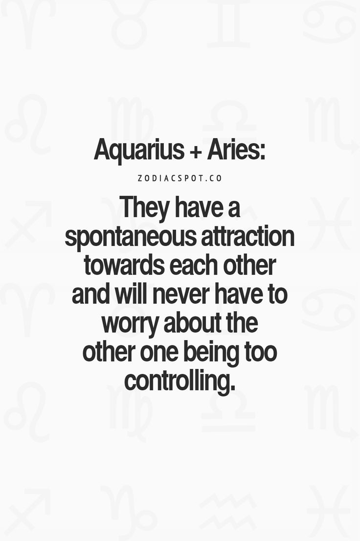 Aquarius dating aries