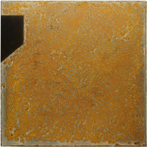 Rust Painting Lt 21 by Amer www.amer-art.com #rustpainting #amerrust #rustart #artonsteel #artonmetal #oxidationart