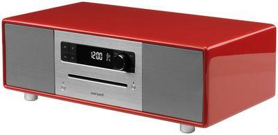 Radio-réveil SonoroStereo / Avec platine CD intégrée - Bluetooth® Rouge - Sonoro    (central d'un vidéo proj' ?)
