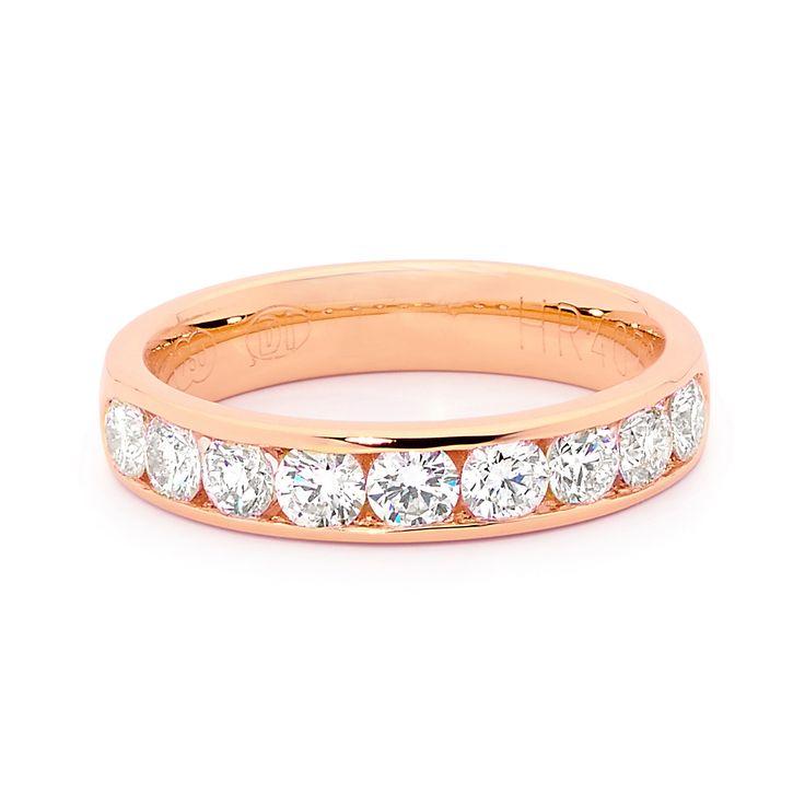 Rose Gold diamond wedding band!  LOVE LOVE  #diamonds #diamondsinternational #wedding #ring #rose #gold