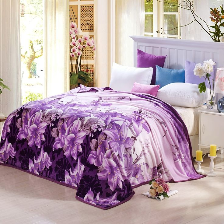 36.22$  Buy here - http://ali2is.shopchina.info/go.php?t=32706107710 - Plush Velvet Floral Blanket on the Bed Super Soft Sofa Throw Blanket Winter Warm Twin Full Queen King Size Blankets 36.22$ #magazineonlinewebsite