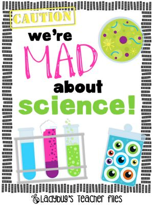 Ladybug's Teacher Files: We're Mad About Science sign {printable}