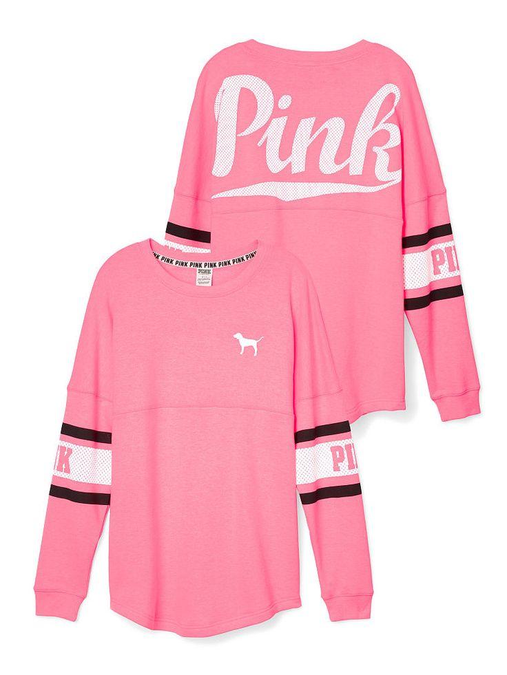 Varsity Crew - PINK - Victoria's Secret Size L