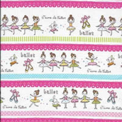 J aime Le Ballet Cotton Fabric