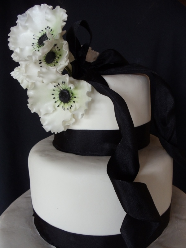 White Black And Lime Green Wedding