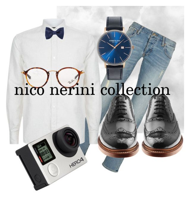 """easter family lunch outfit"" by nico-nerini on Polyvore featuring Armani Jeans, Corneliani, Billabong, Lanvin, Ray-Ban, Kenneth Cole, men's fashion e menswear"