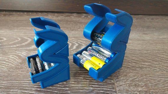 Battery Holder And Dispenser Battery Storage Battery Box Etsy Battery Holder Battery Storage Battery Cases
