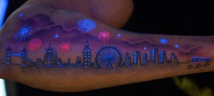 Black light tattoo ink