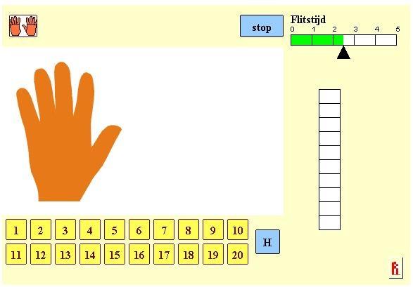 Rekenweb flitsen handen - http://www.fisme.science.uu.nl/toepassingen/00203/handen.html