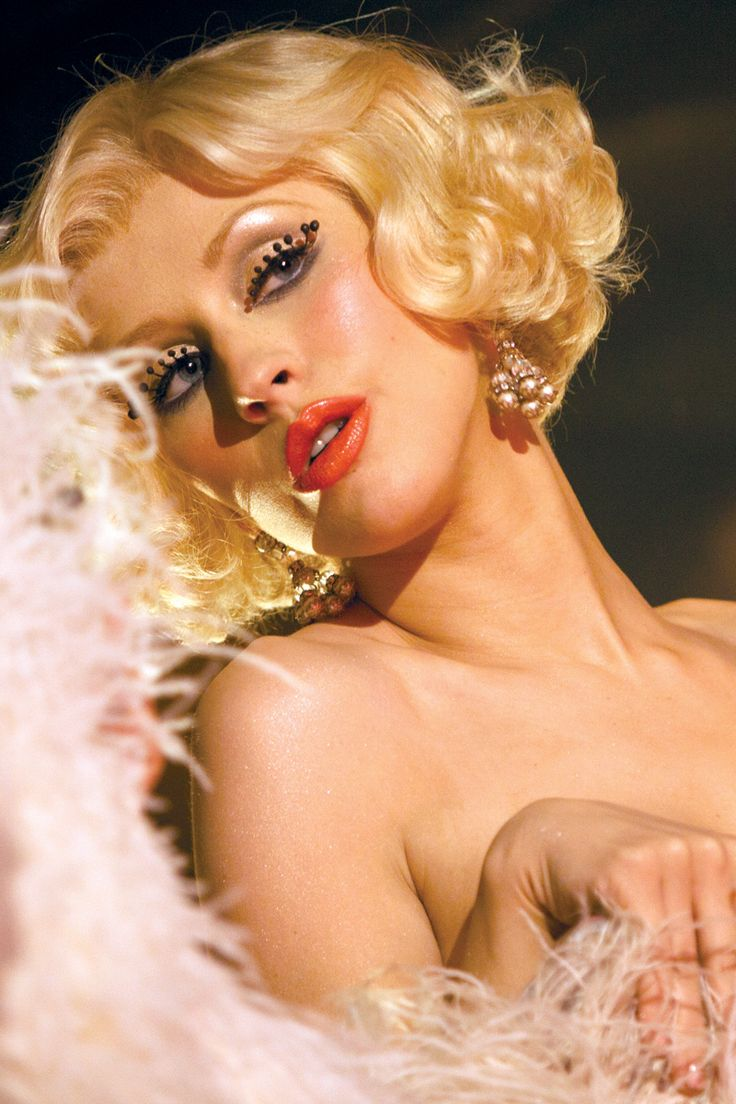 Create the Look: Burlesque Movie Makeup on Christina Aguilera with Custom Made False Eyelashes