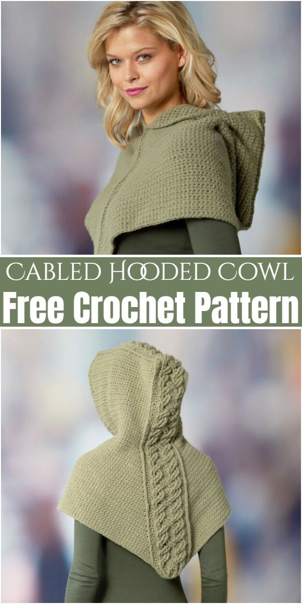 Free Crochet Hooded Cowl Patterns For Girls,Cabled Hooded Cowl
