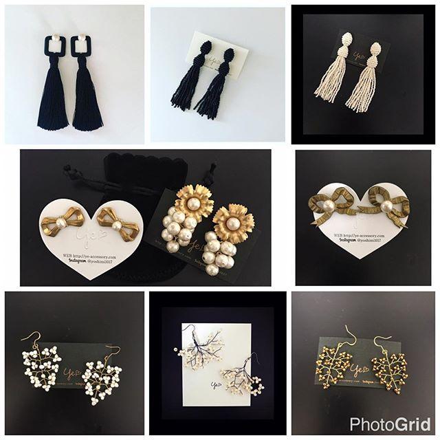 本日22時より HP http://ye-accessory.com  販売するアクセサリーです。 定番商品も販売致します。 詳細はHPに載っています。 ご覧くださいませませー . . . #東京 #大阪 #名古屋 #福岡 #コーデ #コーディネート #プレ花嫁 #披露宴 #パーティ #結婚式 #モノトーン #アンティーク