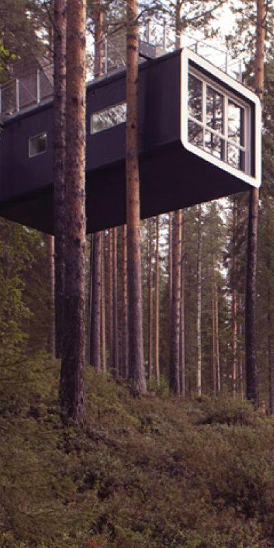 Gi bort en overnatting i en unik trehytte! I de trolske svenske skoger er disse topp moderne trehotell konseptene bygd og dette blir garantert en overnatting som huskes! Det er flere konsepter å velge mellom, og en smakfull frokostbuffet inkluderer.