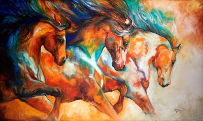 Wild Trio by Artist Marcia Baldwin  Running Horses ~ Mustangs   American Art Moves!: August 2013