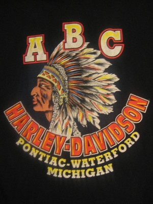 Harley Davidson Mens Tshirt Pocket Black Men's Large ABC H D Pontiac Michigan