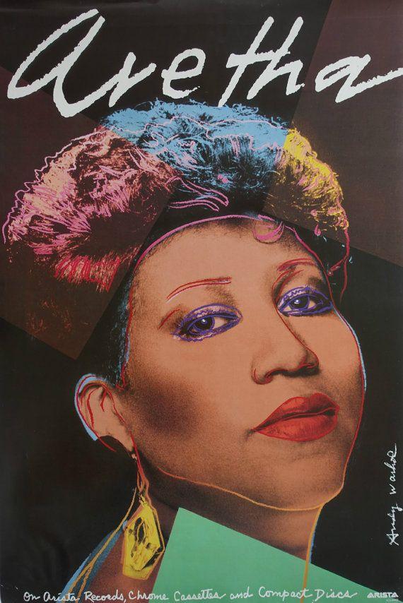 1986 Warhol Aretha Franklin  Orginal Vintage by OutofCopenhagen