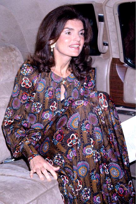 *JACQUELINE KENNEDY ONASSIS ~ attends the Metropolitan Opera's Royal Ballet on May 7, 1974, in New York City.