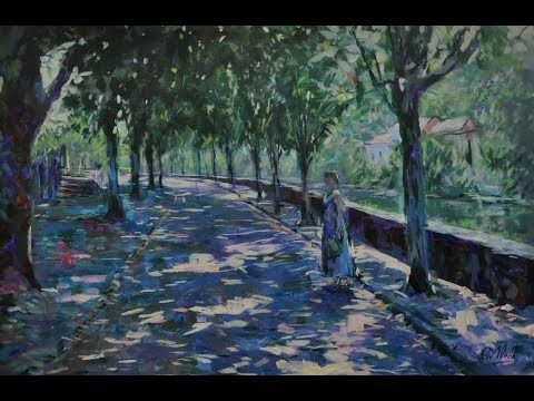 Argenton sur Creuse -  trees in morning light - YouTube