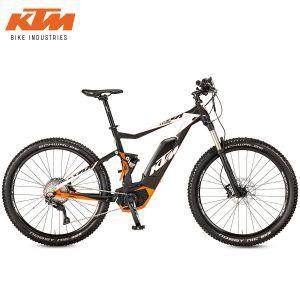 Bicicleta eléctrica KTM - Macina Lycan 274 Black matt (White+Orange)