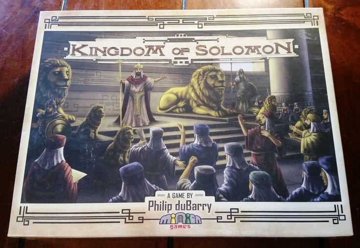 Minion Games Kingdom of Solomon Board Game Sealed New  #MinionGames