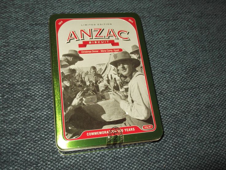 Unibic Biscuits Anzac Tin -  Christmas Dinner - Mena Camp, Egypt  with leaflet