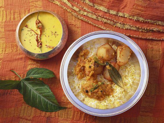 Kartoffel-Reis-Topf auf indische Art ist ein Rezept mit frischen Zutaten aus der Kategorie Wurzelgemüse. Probieren Sie dieses und weitere Rezepte von EAT SMARTER!