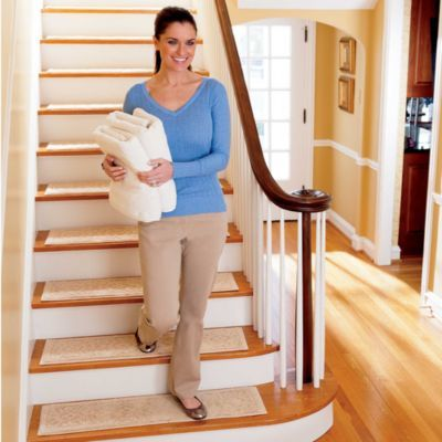 Made of soft cotton, our Rowan Embossed Washable Stair Treads have a slip-resistant backing that helps keep them in place.  Use these stylish Rowan Embossed Washable Stair Treads to protect your wood flooring while providing more secure footing for you and your pets. Made of 100% plush cotton, the Rowan Embossed Washable Stair Treads are backed by slip-resistant latex, so no rug pad is needed. These rugs have a subtle embossed scroll design in a variety of fashionable colors, making it easy…