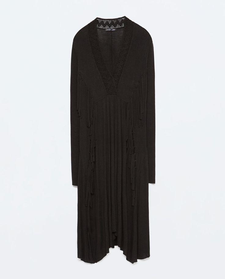 Image 7 of FRINGED BOHO V-NECK DRESS from Zara