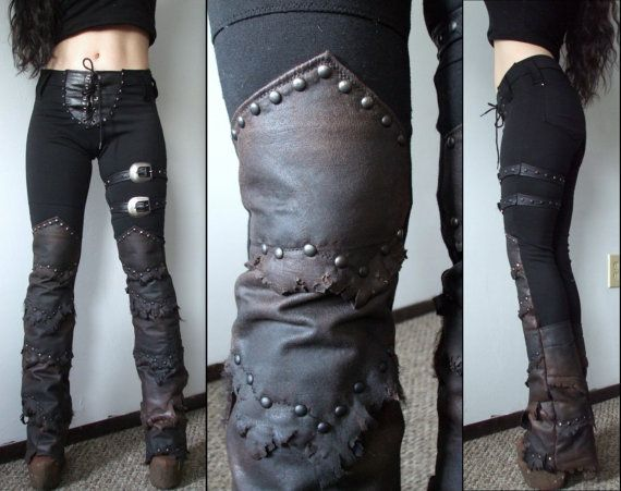 Akecheta leather bootcut warrior pants by ObscuraMorgana on Etsy