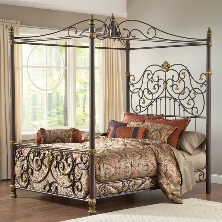 adison metal king canopy bed 3