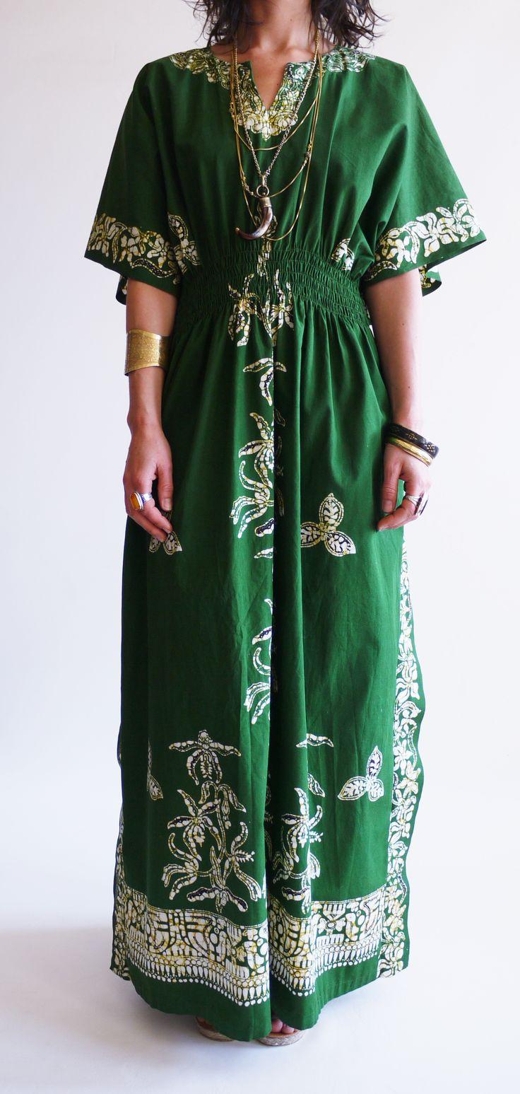 Vintage 1970s Batik Kaftan @ www.secondhandnew.nl