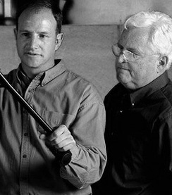 The designers of Embody chairs, Jeff Weber and Bill Stumpf