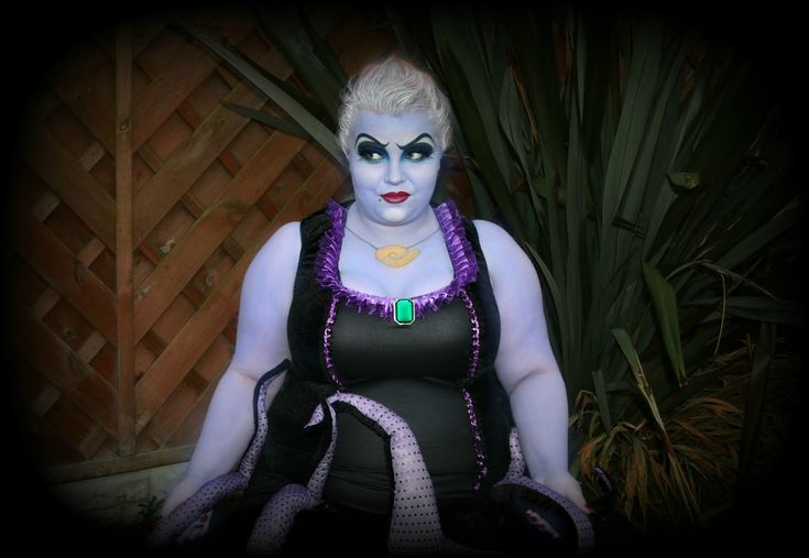Halloween Ursula Makeup and Costume from Plus Size Lingerie Boutique