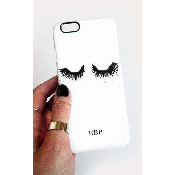 Rianna Phillips Upper East Eyelash Monogram Phone Case ($33) ❤ liked on Polyvore featuring accessories and tech accessories